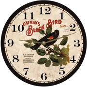 black-bird-clock