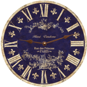 blue-toile-french-country-wall-clock