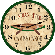 canoe-fishing-clock
