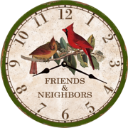 country-wall-clock-cardinal