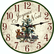 french-country-wall-clock-christmas-tree-clock