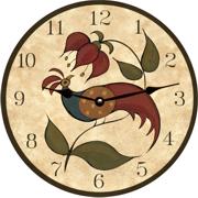 Basics Maurice Mo Dallas ´Pholk Art´ Birdhouse Clock