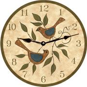 Folk Art Clocks - Time Flies Clocks
