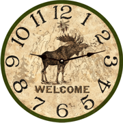 rustic-moose-wall-clock-clocks