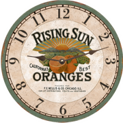 orange-fruit-wall-clock