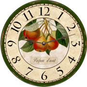 fruit-wall-clock-pear-clock