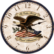 personalized-eagle-wall-clock