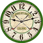 personalized-golf-clock