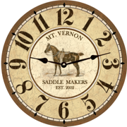 personalized-equestrian-horse clock