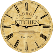personalized-kitchen-clock