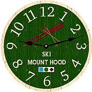 personalized-ski-wall-clock