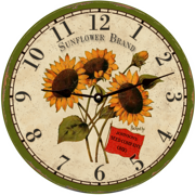 personalized-sunflower-wall-clock