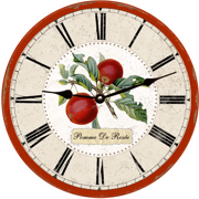 red-apple-fruir wall-clock