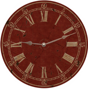 red-classic-wall-clock