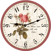 rose-flower-wall-clock