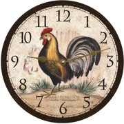 rustic-rooster-clock