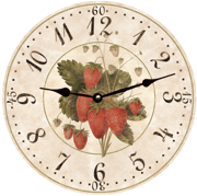 strawberry-fruit-wall-clock