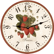 strawberry-french-country-wall-clock