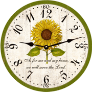 sunflower-christian-clock