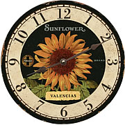 sunflower-wall-clock