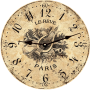 french-country-wall-clock-toile-wall-clock