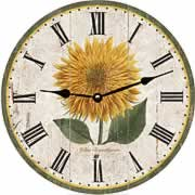 flower-wall-clock-yellow-chrysanthemum