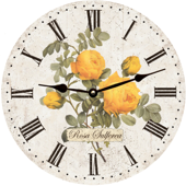 yellow-rose-flower-wall-clock