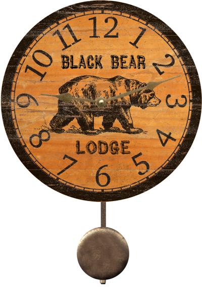 Black Bear Clock Beautiful Rustic Black Bear Clock