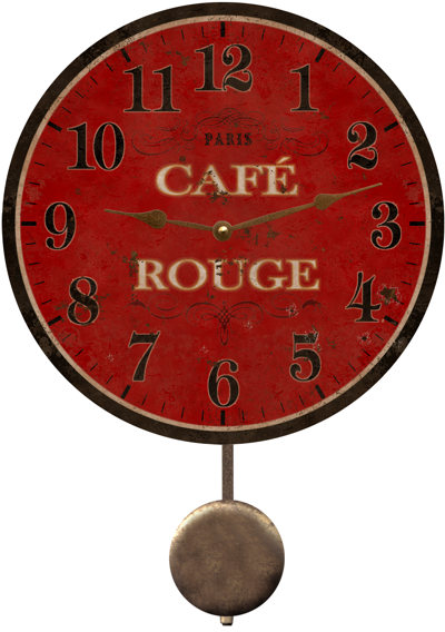 Cafe Rouge French Country Wall Clock