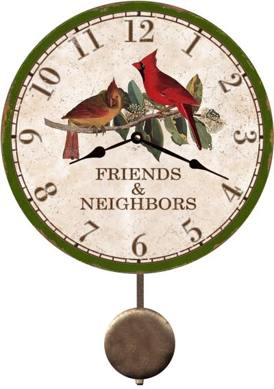 Cardinal Clock Friends And Neighbors Cardinal Clock