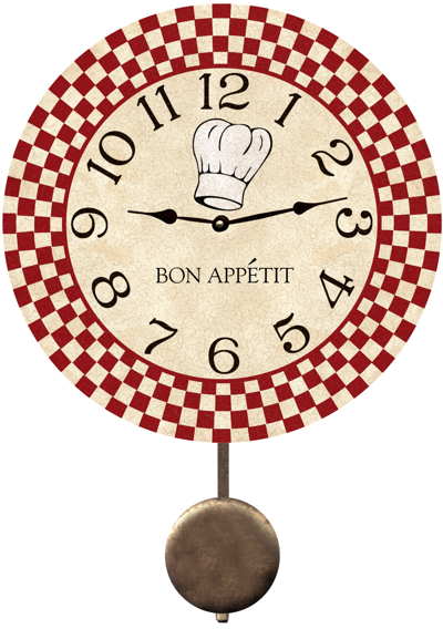 Superb Chef Wall Clock Red Checked Chef Wall Clock Home Interior And Landscaping Transignezvosmurscom