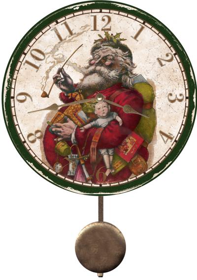 Christmas Clock Vintage Santa Christmas Clock
