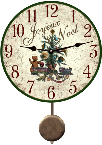 Christmas tree clock