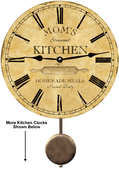 Pin Kitchen Clocks Kitchen Wall Clock Plaque