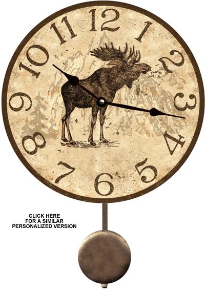 Lodge Clock Moose Lodge Clock