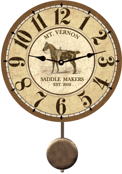 personalized-horse-clock