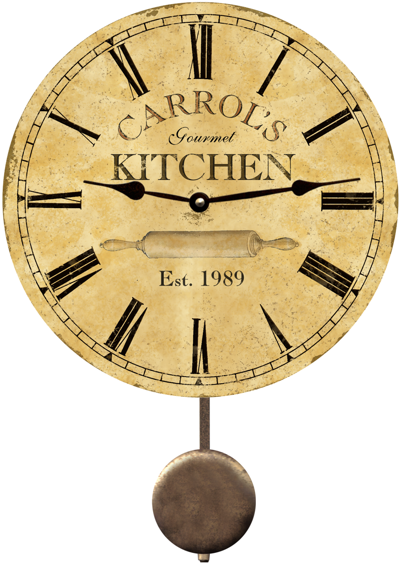 Charming Personalized Kitchen Clock