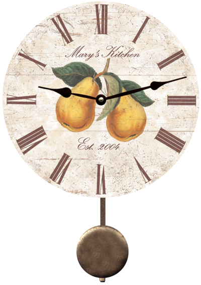 Personalized Pear Kitchen Clock