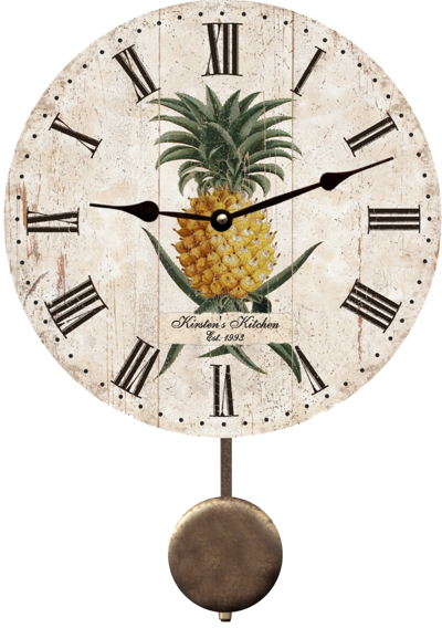 personalized-pineapple-wall-clock
