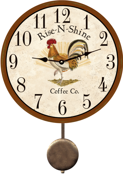 Rooster Kitchen Clock Country Wall More Info