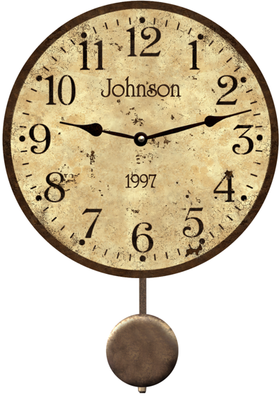 Rustic Clock Personalized Vintage Wall Clocks
