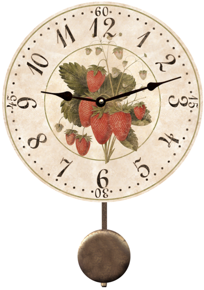 Strawberry Clock Vintage