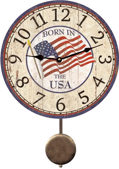 Usa Clock Born In The Usa Clock