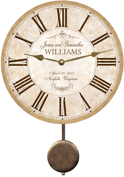 Wedding Clock Personalized Wedding Clock